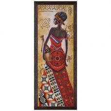 НД2076 Набор для вышивания бисером 'Африканка с кувшином'18 x 51см