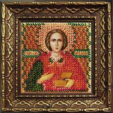 2022дПИ Набор для вышивания бисером 'Вышивальная мозаика' Икона 'Св. Вмч. и Целитель Пантелеймон', 6,5*6,5 см
