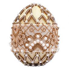 В214 Набор для бисероплетения Риолис 'Яйцо пасхальное 'Капучино'6,5*5 см