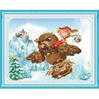 51309 Картина со стразами 5D 'Зимняя сказка', 70x56см
