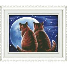 1340 Мозаика Cristal 'Влюбленные коты', 50*40 см