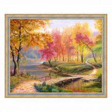 АЖ-1822 Картина стразами «Осень в старом парке» 50*40см