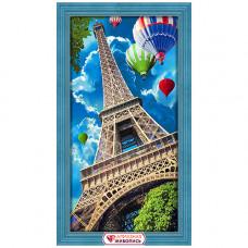 АЖ-1708 Картина стразами 'Небо над Парижем' 30*60см