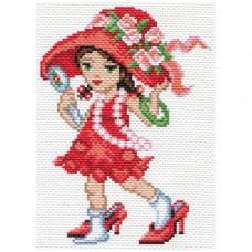 1635-1 Канва с рисунком Матренин посад 'Модница' 28*37см