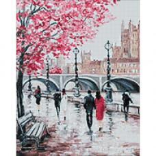Ag 3417 Набор д/изготовления картин со стразами 'Городской мост' 38*48см Гранни