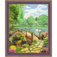 АЖ-1767 Картина стразами «Солнечный день» 40*50см