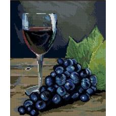 1277 Мозаика Cristal 'Натюрморт с вином', 34*40 см