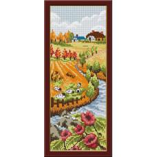 1418 Мозаика Cristal 'Осень', 14*36 см