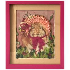 КЛ(н)-4001 Набор для вышивания лентами 'Нарядный кролик' 18,5*23,5см