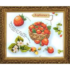 Бис3075 Рисунок на канве для вышивки бисером 'Клубничка'