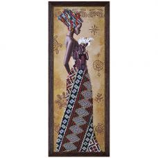 НД2077 Набор для вышивания бисером 'Африканка с лилией'18 x 51см