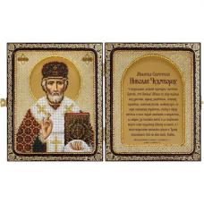 СЕ7103 Набор для вышивания бисером Нова Слобода 'Николай Чудотворец' 23x14,2см