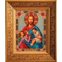 В197 Набор для вышивания бисером Кроше 'Благословение детей'19*25см
