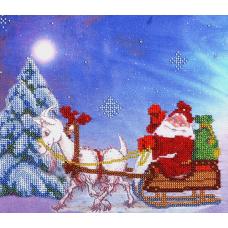 НР-3027 Канва с рисунком для вышивания бисером 'Новогодняя' Hobby&Pro 25*22см