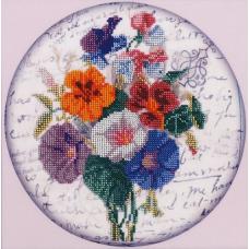 НР-3055 Канва с рисунком для вышивания бисером 'Цветики' Hobby&Pro 25*25см