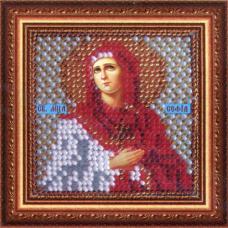 050ПМИ Набор для вышивания бисером 'Вышивальная мозаика' Икона 'Св.Мученица Софья', 6,5*6,5 см