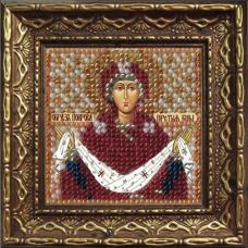 2033дПИ Набор для вышивания бисером 'Вышивальная мозаика' Икона 'Покрова Прсв. Богородицы', 6,5*6,5 см