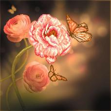 156/Б Набор для вышивания бисером Матренин Посад 'Розовая фантазия' 41*41см