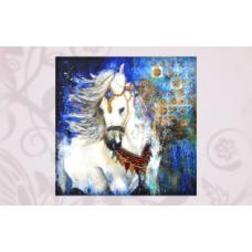 63009 Набор для вышивания бисером Astrea 'Лошадь в лесу' 35х35 см