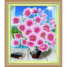 Y6040 Картина со стразами 6D 'Розовый цвет', 61*73см