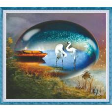 51234 Картина со стразами 5D 'Безмятежность', 66x59см