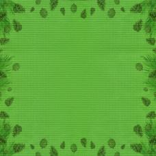 Дизайнерская канва Bestex 30*30 см (Еловый лес)