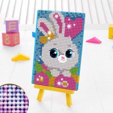3572060 Алмазная мозаика для детей 'Зайка'+ емкость, стержень с клеевой подушечкой