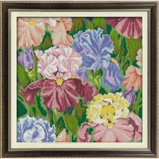 1244 Мозаика Cristal 'Ирисы', 42*42 см