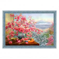 АЖ-1823 Картина стразами «Букет сакуры» 60*40см