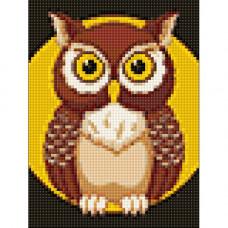 Ag 2268 Набор д/изготовления картин со стразами 'Ночная сова' 15*20 см Гранни