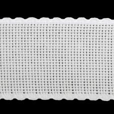 Канва 'лента', 1,5м*5см, 100% хлопок Bestex (белый/белый)