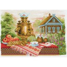 1710 Канва с рисунком 'Матренин Посад' 'Натюрморт деревенский', 37*49 см