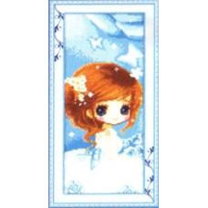 7663 Мозаика Cristal 'Девочка', 25*50 см