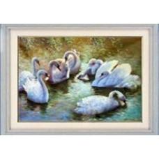 1073 Мозаика Cristal 'Лебеди', 53*41 см