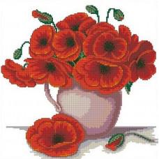 1283 Мозаика Cristal 'Букет маков', 39*39 см