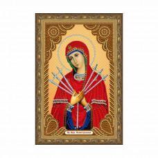 IK005 Картина со стразами Колор Кит 'Богородица Семистрельная' 20*30см