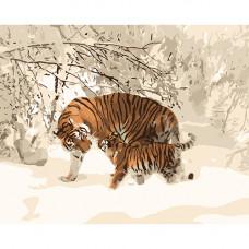 H028 Тигрица с тигрёнком