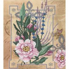ННД4071 Набор для вышивания бисером 'Цветы нежности' 20х22см