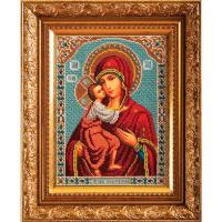 В198 Набор для вышивания бисером Кроше 'Богородица Федоровская'19*27см