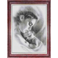КБЛ(э) -3047Канва с рисунком для бисера 'Мать и ребенок ' А3