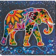 АМВ-046 Набор для вышивания бисером 'Индийский слон'20*20см