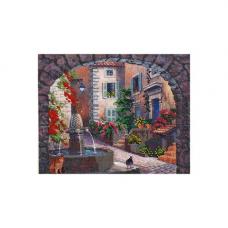 НР-3082 Канва с рисунком для вышивания бисером 'Встреча у фонтана' Hobby&Pro 30*24см