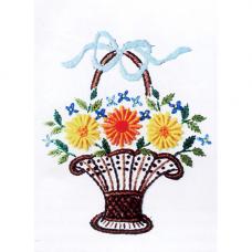 3010 ЦВ Набор для вышивания Вышивальная мозика 'Лето в корзинке' 12*18см