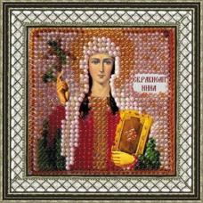 051ПМИ Набор для вышивания бисером 'Вышивальная мозаика' Икона 'Св. Равноп. Нина', 6,5*6,5 см