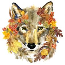 135/Б Набор для вышивания бисером Матренин посад 'Осенний волк' 28*34см