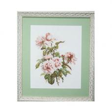 0007 Набор для вышивания 'Ажур' 'Розовые розы' 24x30 см
