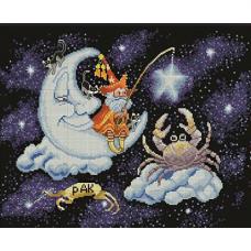 1103 Набор для вышивания Alisena 'Знаки зодиака - Рак' 30*23см