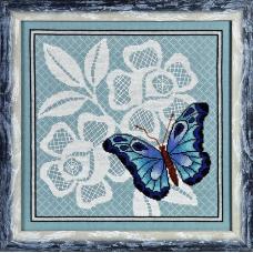 1123 Набор для вышивания Alisena 'Бабочка', 27*27 см