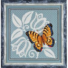1124 Набор для вышивания Alisena 'Ажурная бабочка' 27*27 см