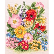 PCE961 Набор для вышивания Anchor 'Луговые цветы' 25*20см